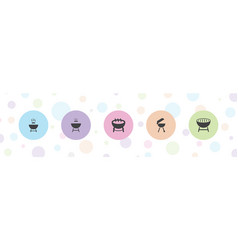 Bbq icons vector