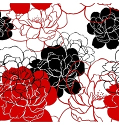 Beautiful peonies pattern vector