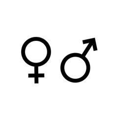 black flat woman and man symbol vector image