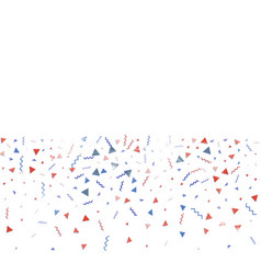 blue and red confetti independence day background vector image