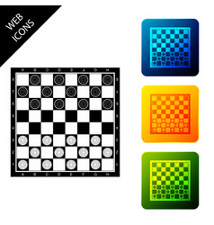 board game checkers icon isolated ancient vector image