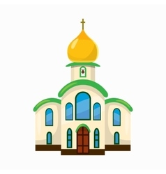 Building church icon cartoon style vector image