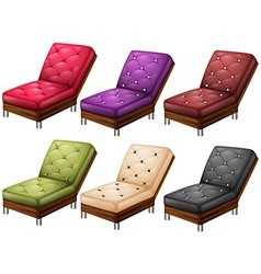 Chairs in different colors vector image