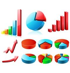Charts and graphs vector image