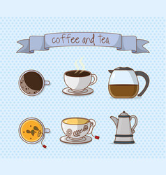 coffee and tea culture vector image