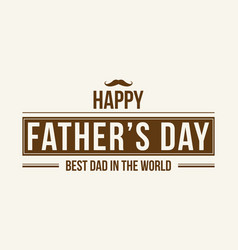 Collection card style father day vector