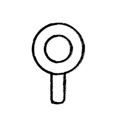 Contour magnifying glass icon education vector