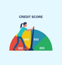credit rating history improvement vector image