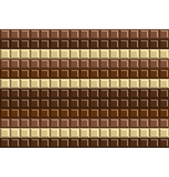 Dark and white chocolate bar background texture vector