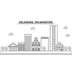 Delaware wilmington architecture line skyline vector
