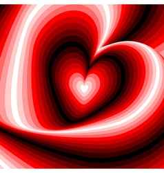 Design heart swirl rotation background vector image