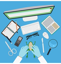 Doctor workplace vector image