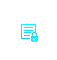 document protection icon vector image