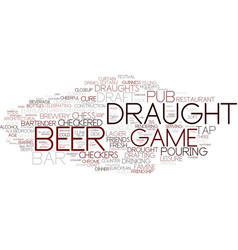 Draught word cloud concept vector