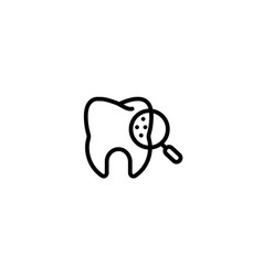 examination check tooth care dental icon in black vector image