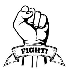 Fight for your rights solidarity revolution vector