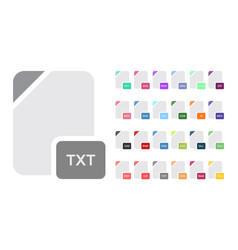 Flat file format icons audio video image vector