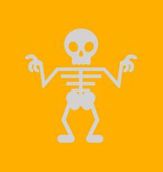 Flat icon on background halloween skeleton vector