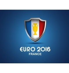 France Euro 2016 concept shield with flag vector image