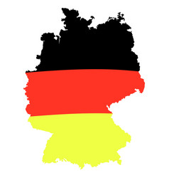 German flag on map isolated vector