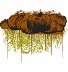 Grunge pumpkin illustration vector