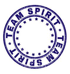 Grunge textured team spirit round stamp seal vector