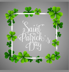 happy stpatricks day with frame vector image