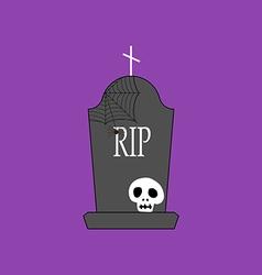 Headstone and skull vector