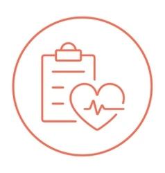 Heartbeat record line icon vector