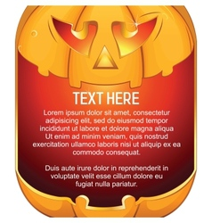 Jack O Lantern Halloween Pumpkin with Candle Light vector image