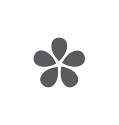 jasmine flower icon logo template vector image