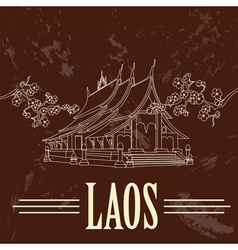 Laos Retro styled image vector
