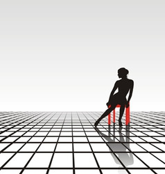 Lonely girl vector