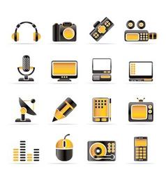 media equipment icons vector image