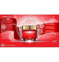 Moisturizing Cream cosmetic ads vector