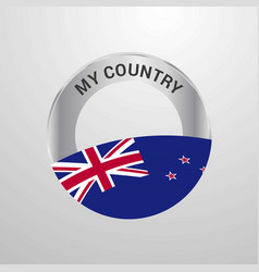 New zealand my country flag badge vector
