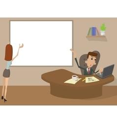 Office Working cartoon concept vector