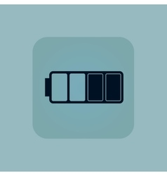 Pale blue half battery icon vector
