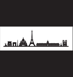 paris skyline background paris famous landmark vector image