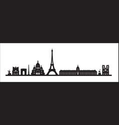 Paris skyline background paris famous landmark vector