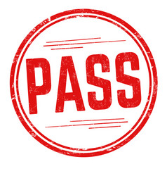 pass sign or stamp vector image