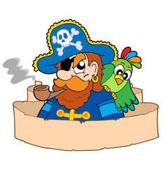 Pirate with parchment vector
