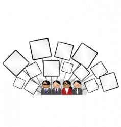 Placard blank vector