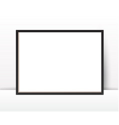 Realistic photo frame on wall background perfect vector