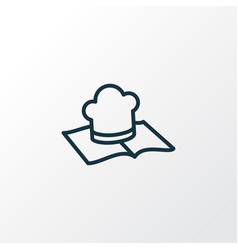 recipe book icon line symbol premium quality vector image