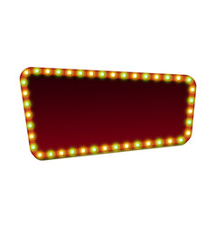 red street marquee sign with light and blank space vector image