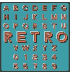 Retro font vector