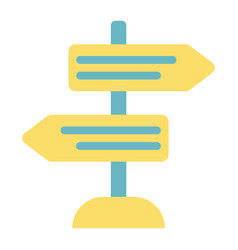 Signpost flat icon navigation and direction vector