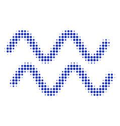 sinusoid waves halftone icon vector image
