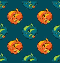 sleeping dog seamless pattern vector image